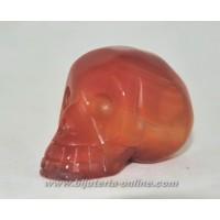 Фигурка череп карнеол