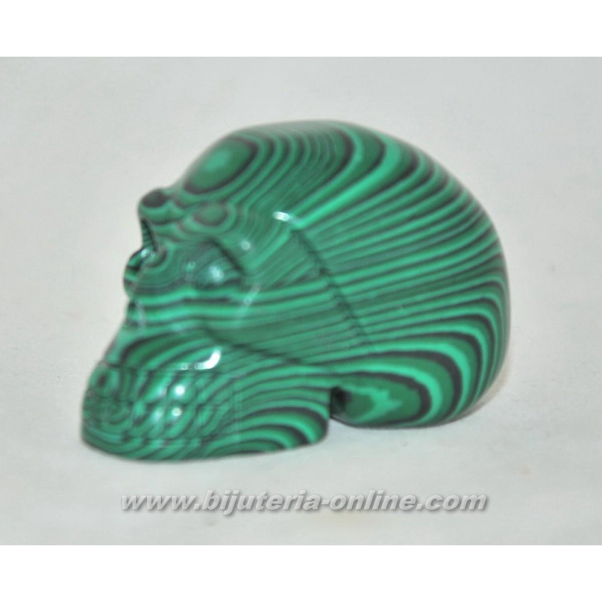 Фигурка череп от малахит