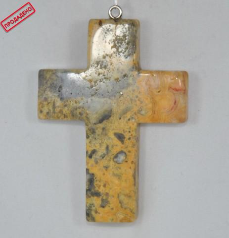 Висулка кръст от ахат
