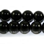 Мъниста черен оникс - 6 бр.
